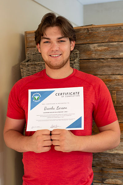 brooks holding certificate